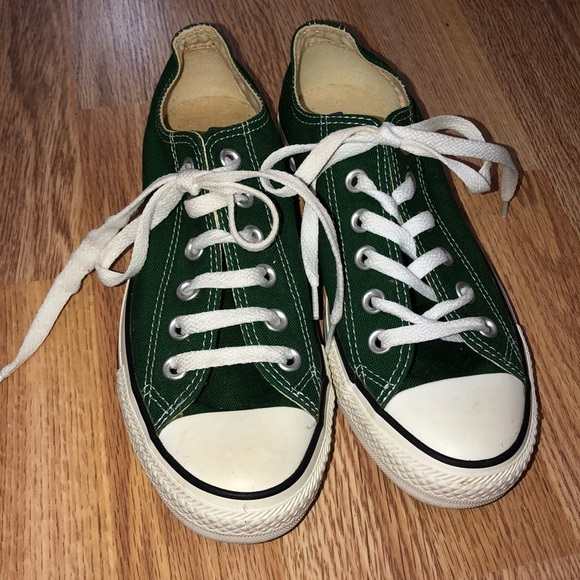 Converse Shoes - Converse green classic low top tennis shoes 6b5ad120a